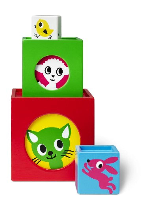 Micki動物Stacking Boxes ( 6ピース)