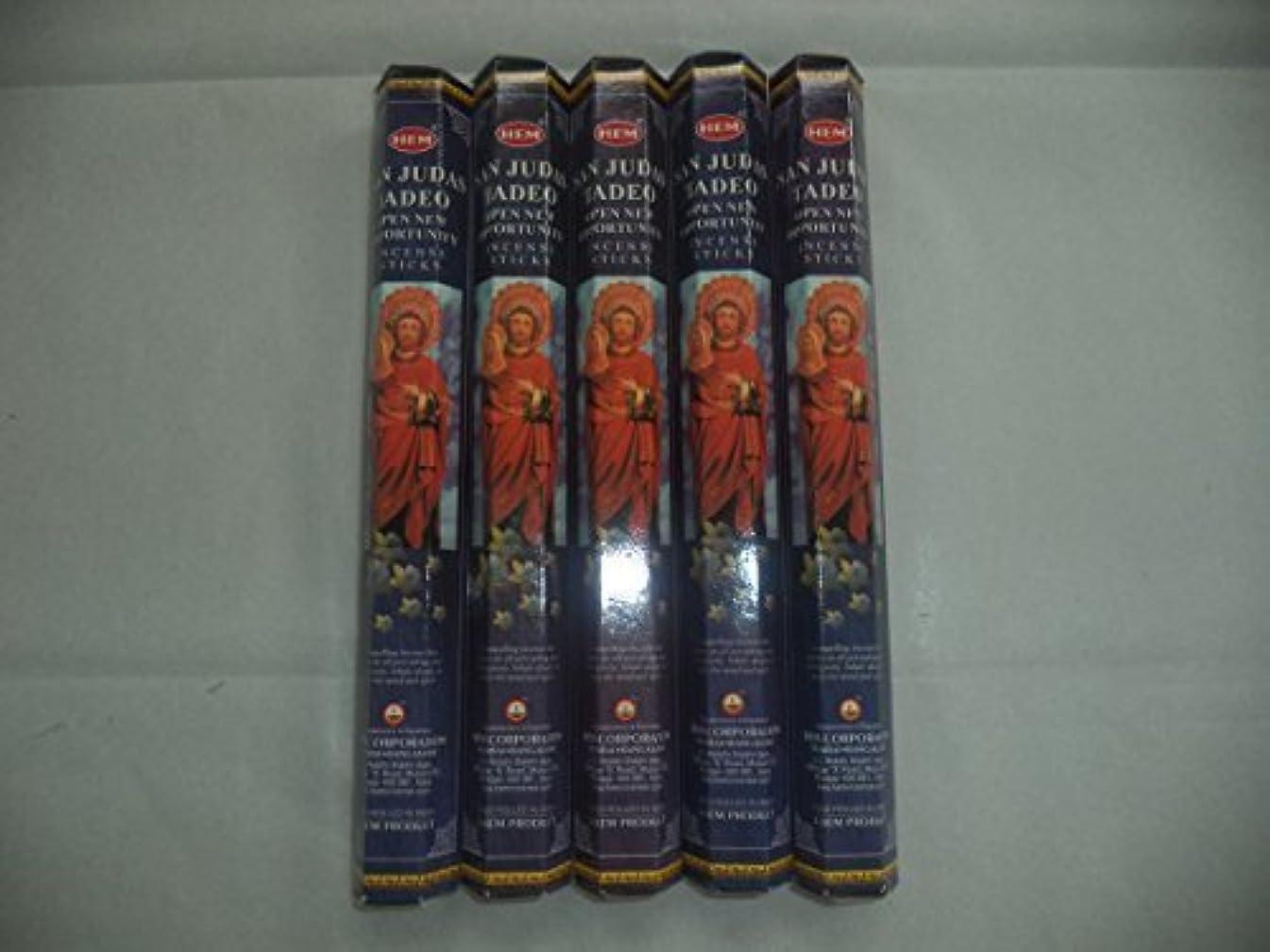 戸棚ダメージカートンHEM San Judas Tadeo 100 Incense Sticks (5 x 20 stick packs) by Hem [並行輸入品]