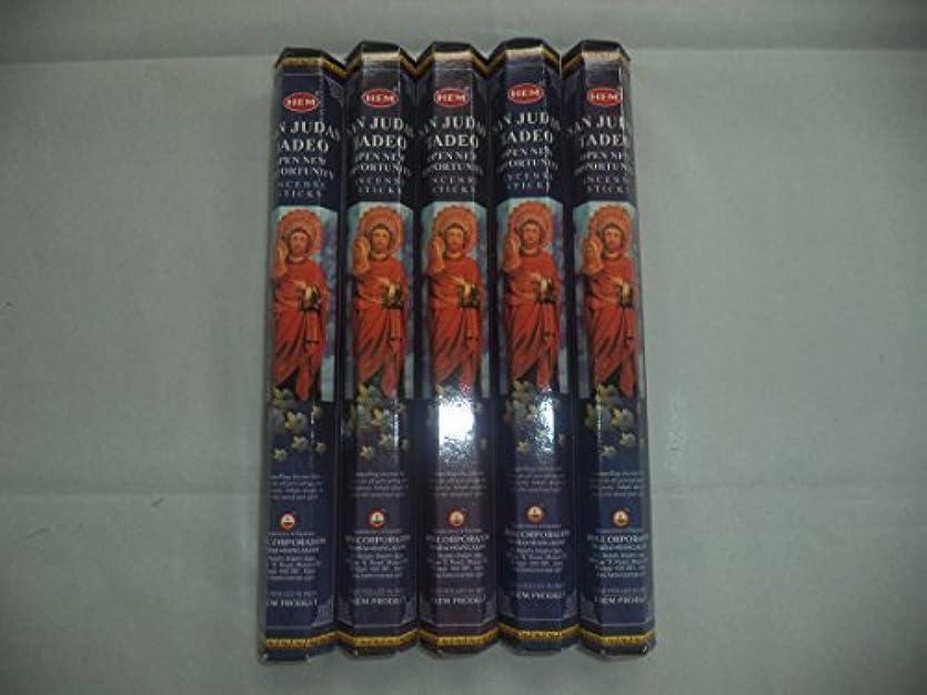 雪だるま研究所測定HEM San Judas Tadeo 100 Incense Sticks (5 x 20 stick packs) by Hem [並行輸入品]
