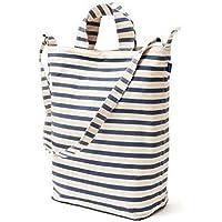 BAGGU Duck Bag Canvas Tote - Sailor Stripe [並行輸入品]