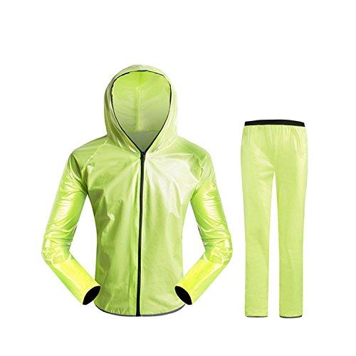 [해외]개량 판 레인 레인 웨아 상하 세트 초경량 완전 방수 비옷 세련된 통기성 장마 폭우 통근 통학 초박형 카파 비옷 여성 남성 자전거 자전거 사이클링 총 4 가지 색상/Improved rain suit Rainwear upper and lower sets Ultra lightweight complete w...