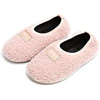 Elcssuy Toddler Slippers Fur Lined Warm Soft Comfy Cute Home Slippers for Boys/Girls Indoor Outdoor Little Kids Shoes