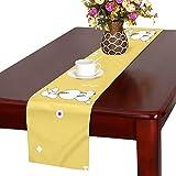 GGSXD テーブルランナー すばやい プードル クロス 食卓カバー 麻綿製 欧米 おしゃれ 16 Inch X 72 Inch (40cm X 182cm) キッチン ダイニング ホーム デコレーション モダン リビング 洗える