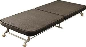 エムール 組立不要 カバーが洗える折りたたみベッド『コペル』シングル グレー