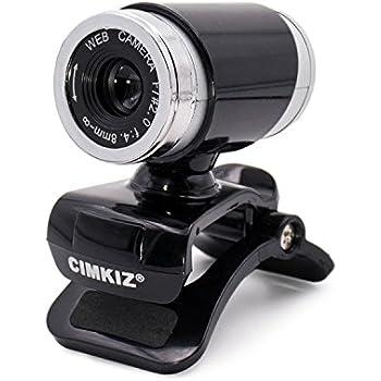 USB ウェブカメラ、MICクリップオン360度のデスクトップ用SkypeコンピュータPCラップトップ用Webカム (黒)