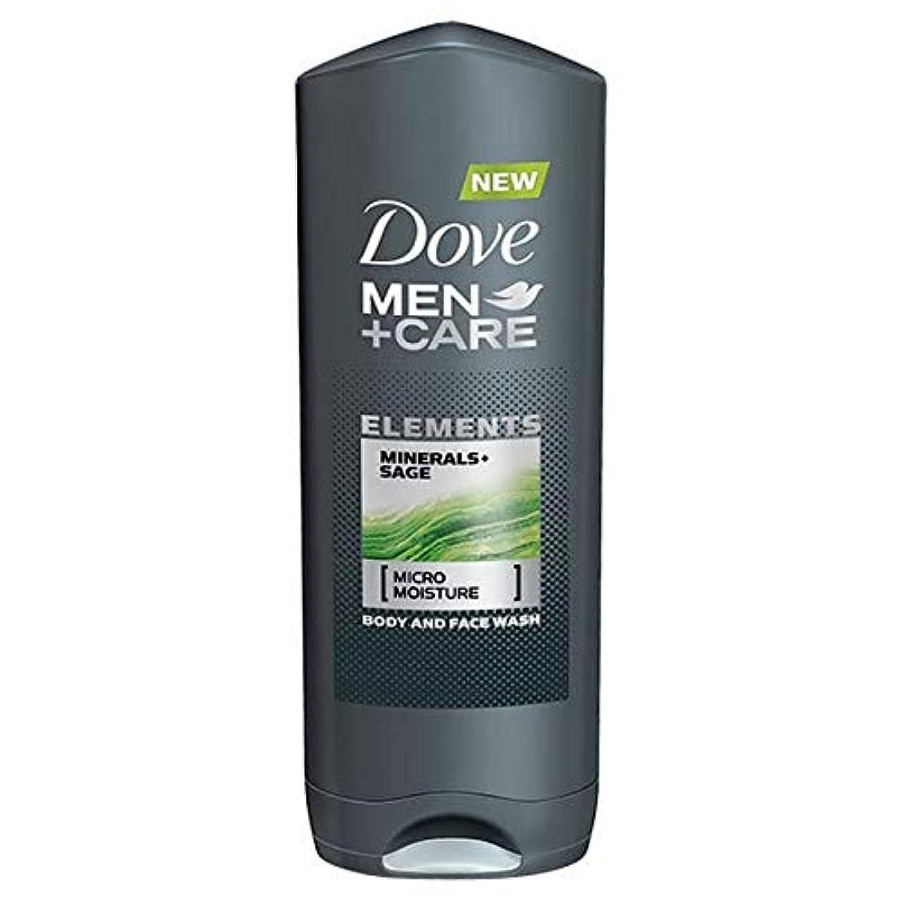 誠実さ眉することになっている[Dove ] 鳩の男性+ケアシャワーミネラルやセージ400ミリリットル - Dove Men + Care Shower Minerals and Sage 400ml [並行輸入品]