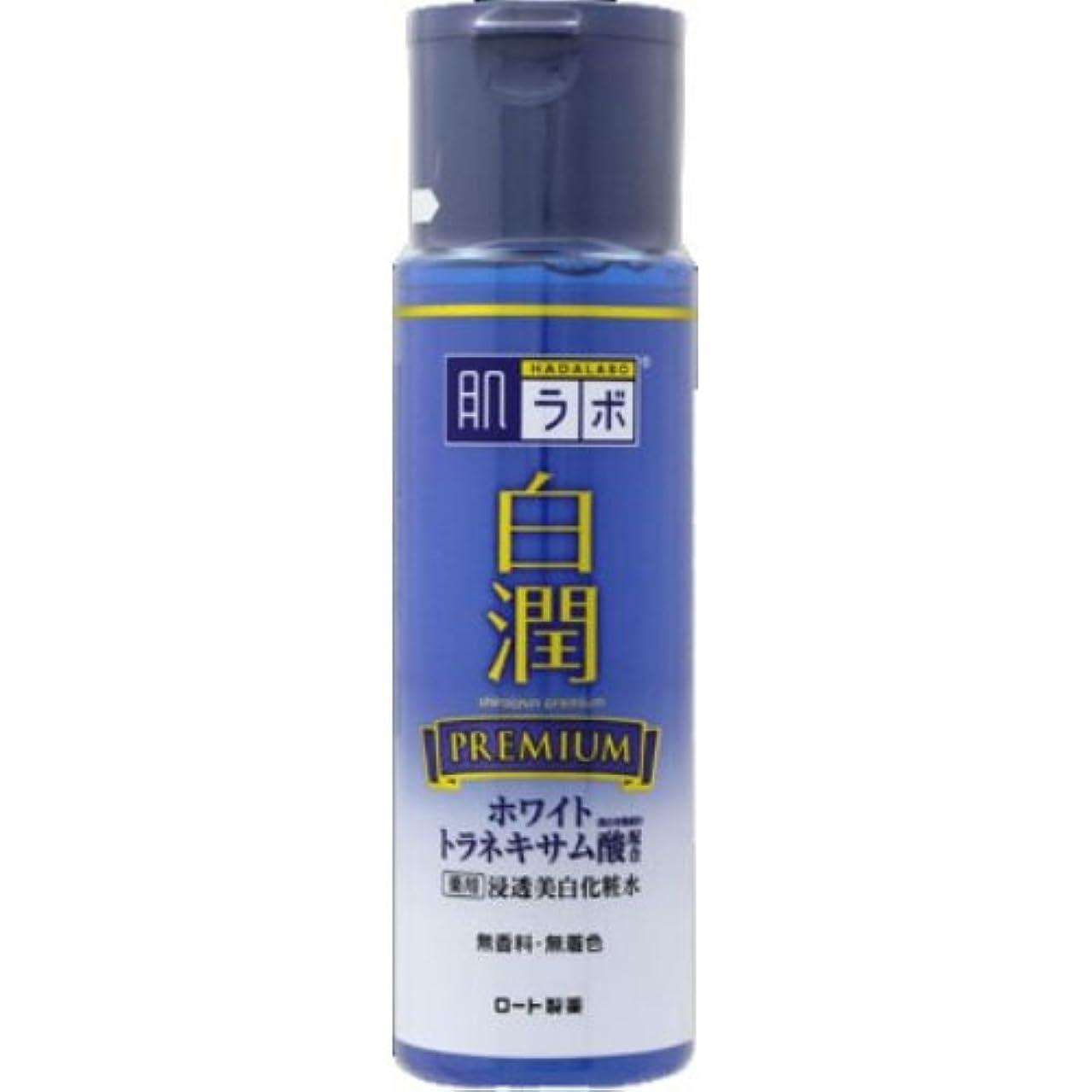 大混乱ずんぐりした楽しい肌ラボ 白潤プレミアム 薬用浸透美白化粧水 170mL × 10個セット