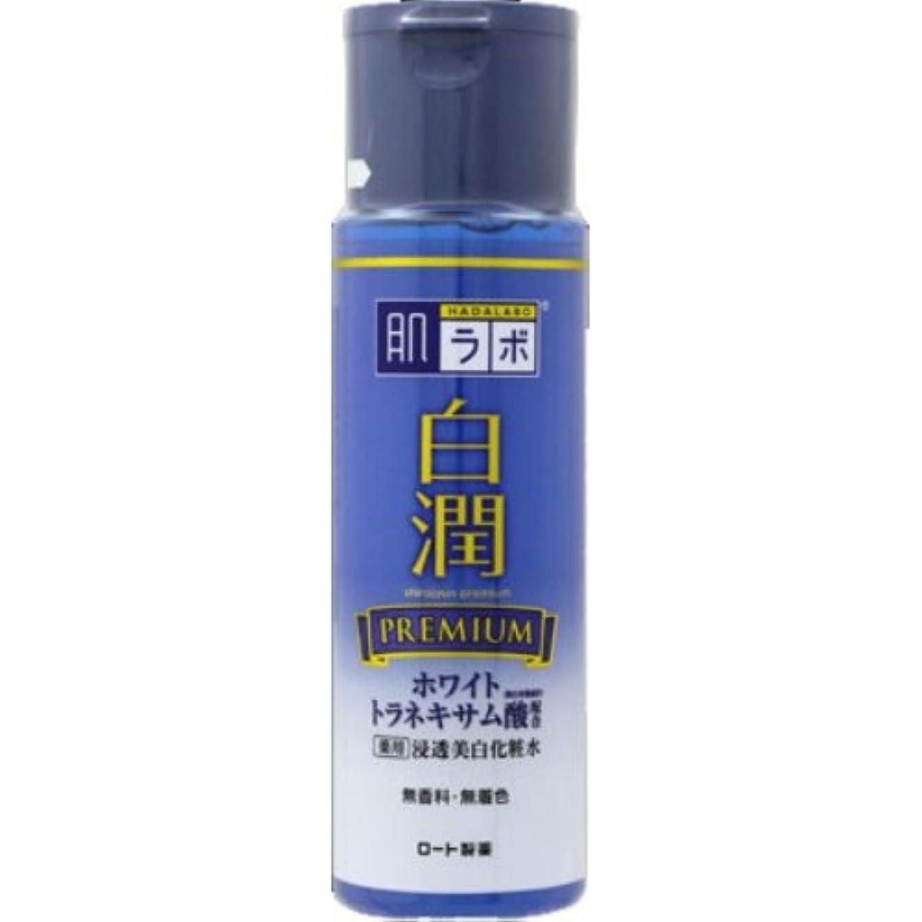 赤ちゃん練習した請求書肌ラボ 白潤プレミアム 薬用浸透美白化粧水 170mL × 10個セット