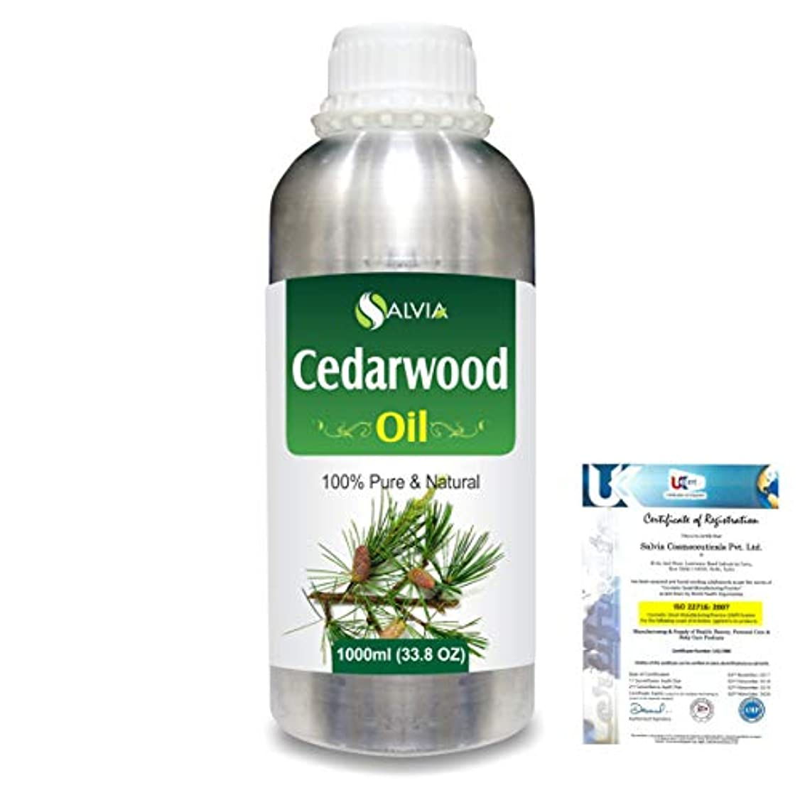 ルーム値する超えてCedar Wood (Juniperus virginiana) 100% Natural Pure Essential Oil 1000ml/33.8fl.oz.
