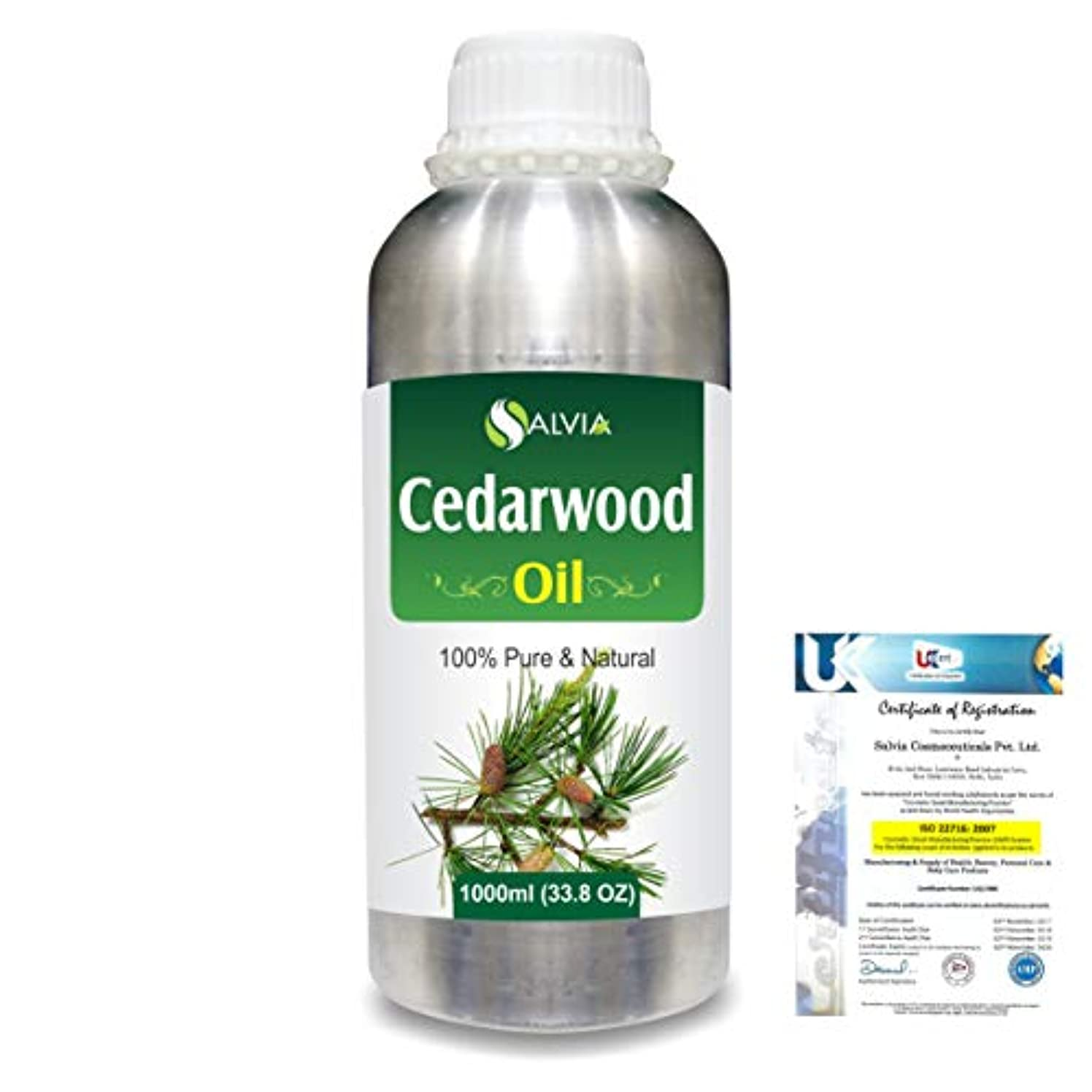転倒病者提案Cedar Wood (Juniperus virginiana) 100% Natural Pure Essential Oil 1000ml/33.8fl.oz.