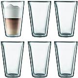 BODUM Canteen Glassware, 13.5-Ounce, Chrome