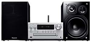 パナソニック CDステレオシステム ハイレゾ音源対応 DLNA/USB-DAC シルバー SC-PMX100-S