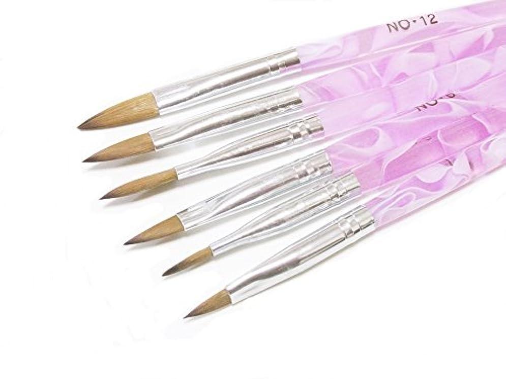 傷つきやすいトランザクション魅了するRant Bell スカルプ用ブラシ セットアクリル 3D ネイル オーバル筆