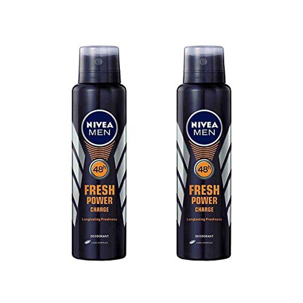 スナップ等価文明化する2 Lots X Nivea Male Deodorant Fresh Power Charge, 150ml - 並行輸入品 - 2ロットXニベア男性デオドラントフレッシュパワーチャージ、150ml