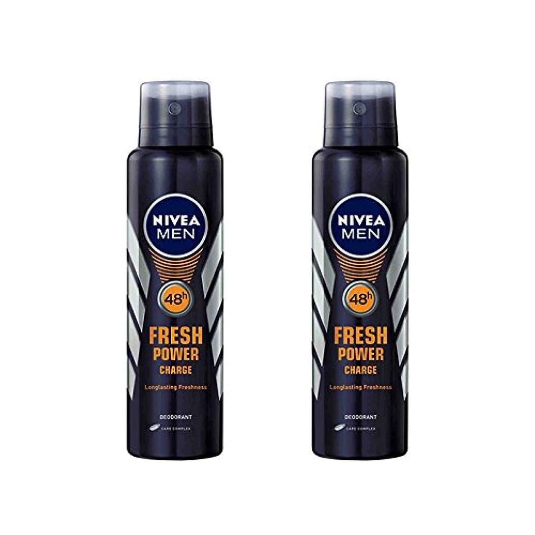 年金受給者正規化グリップ2 Lots X Nivea Male Deodorant Fresh Power Charge, 150ml - 並行輸入品 - 2ロットXニベア男性デオドラントフレッシュパワーチャージ、150ml