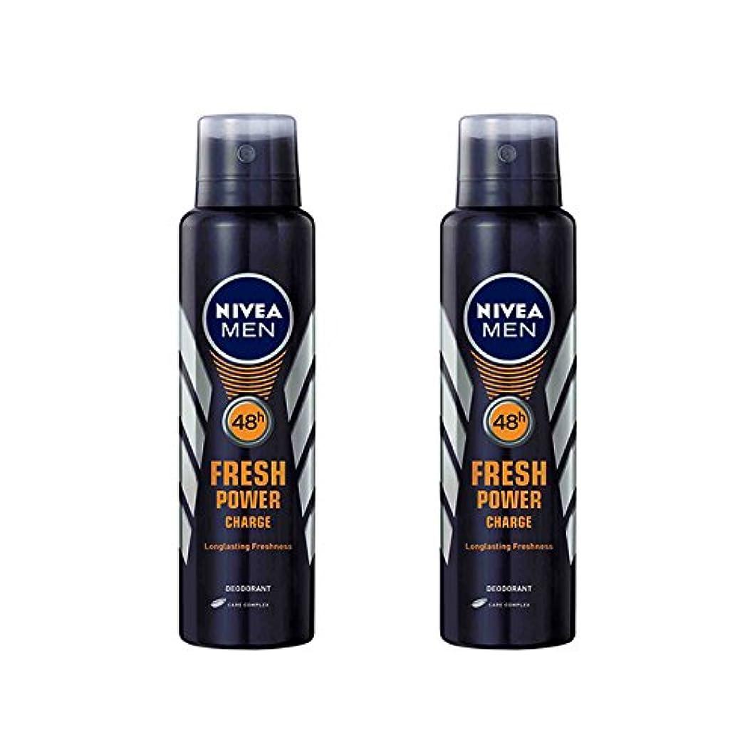 ナンセンスプログラム周辺2 Lots X Nivea Male Deodorant Fresh Power Charge, 150ml - 並行輸入品 - 2ロットXニベア男性デオドラントフレッシュパワーチャージ、150ml