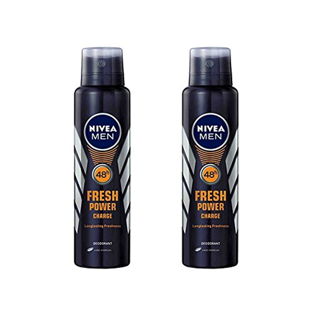 流行している教育するサーバ2 Lots X Nivea Male Deodorant Fresh Power Charge, 150ml - 並行輸入品 - 2ロットXニベア男性デオドラントフレッシュパワーチャージ、150ml