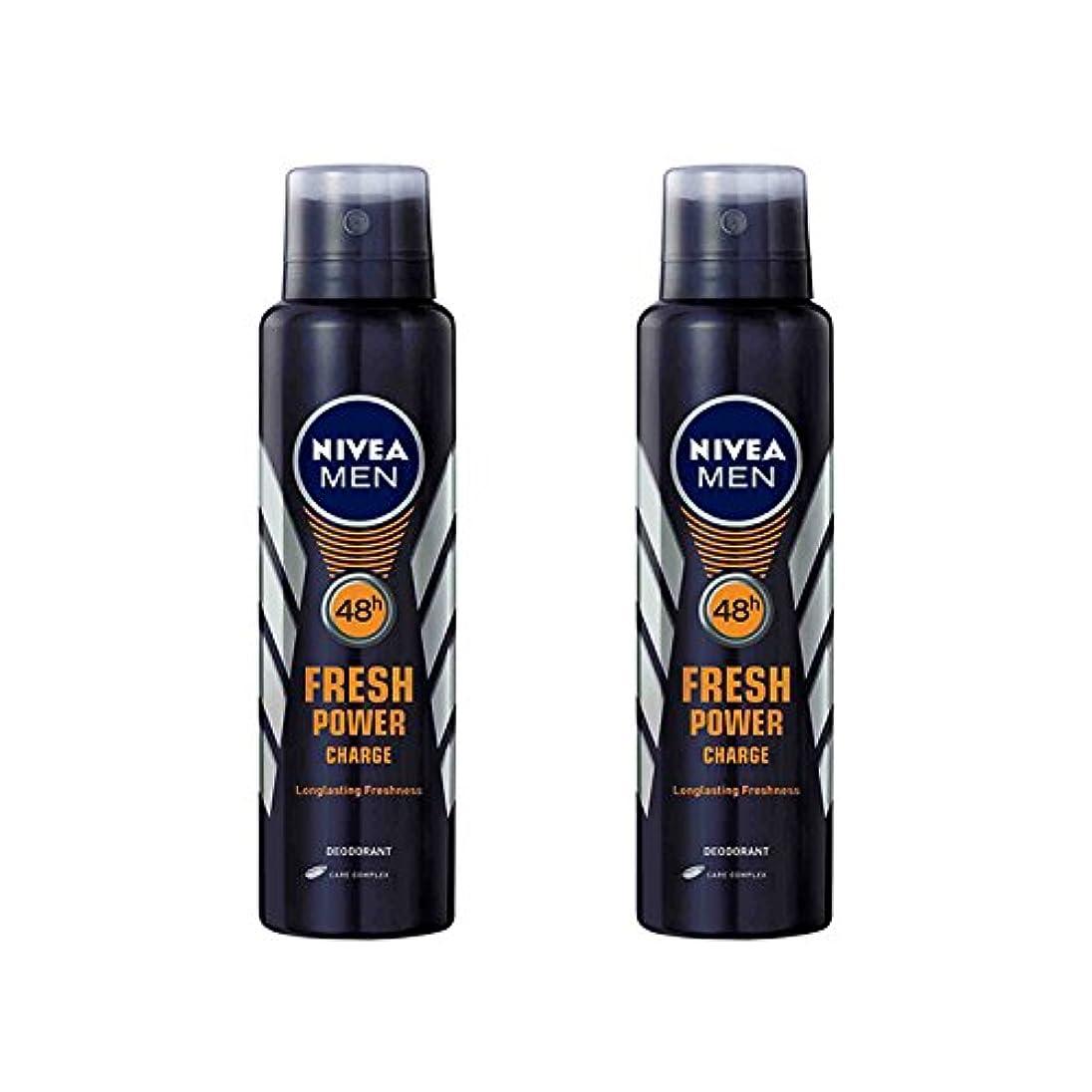 ドライバハントアンドリューハリディ2 Lots X Nivea Male Deodorant Fresh Power Charge, 150ml - 並行輸入品 - 2ロットXニベア男性デオドラントフレッシュパワーチャージ、150ml