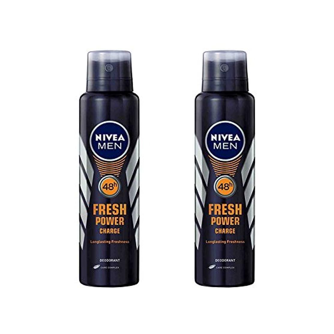 構成するサンドイッチはず2 Lots X Nivea Male Deodorant Fresh Power Charge, 150ml - 並行輸入品 - 2ロットXニベア男性デオドラントフレッシュパワーチャージ、150ml
