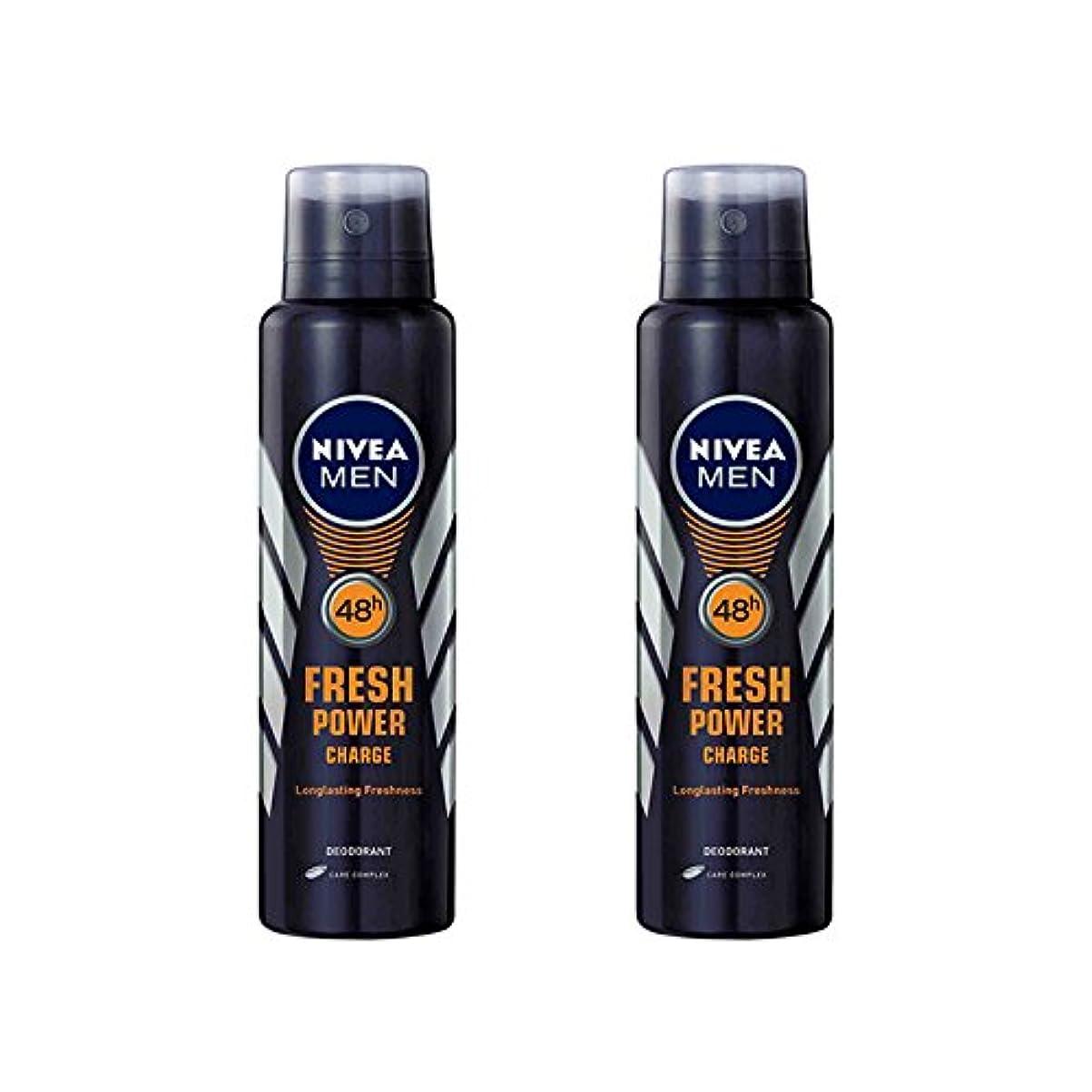 マーベル学士分類する2 Lots X Nivea Male Deodorant Fresh Power Charge, 150ml - 並行輸入品 - 2ロットXニベア男性デオドラントフレッシュパワーチャージ、150ml