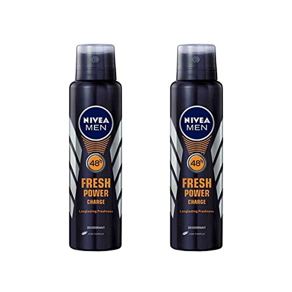 凍結悪質な合理的2 Lots X Nivea Male Deodorant Fresh Power Charge, 150ml - 並行輸入品 - 2ロットXニベア男性デオドラントフレッシュパワーチャージ、150ml