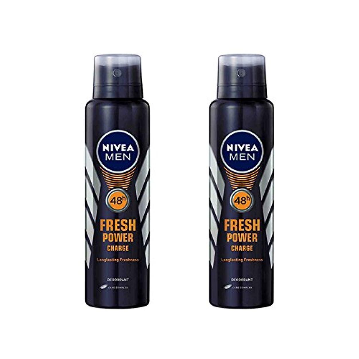 含める役職アラブサラボ2 Lots X Nivea Male Deodorant Fresh Power Charge, 150ml - 並行輸入品 - 2ロットXニベア男性デオドラントフレッシュパワーチャージ、150ml