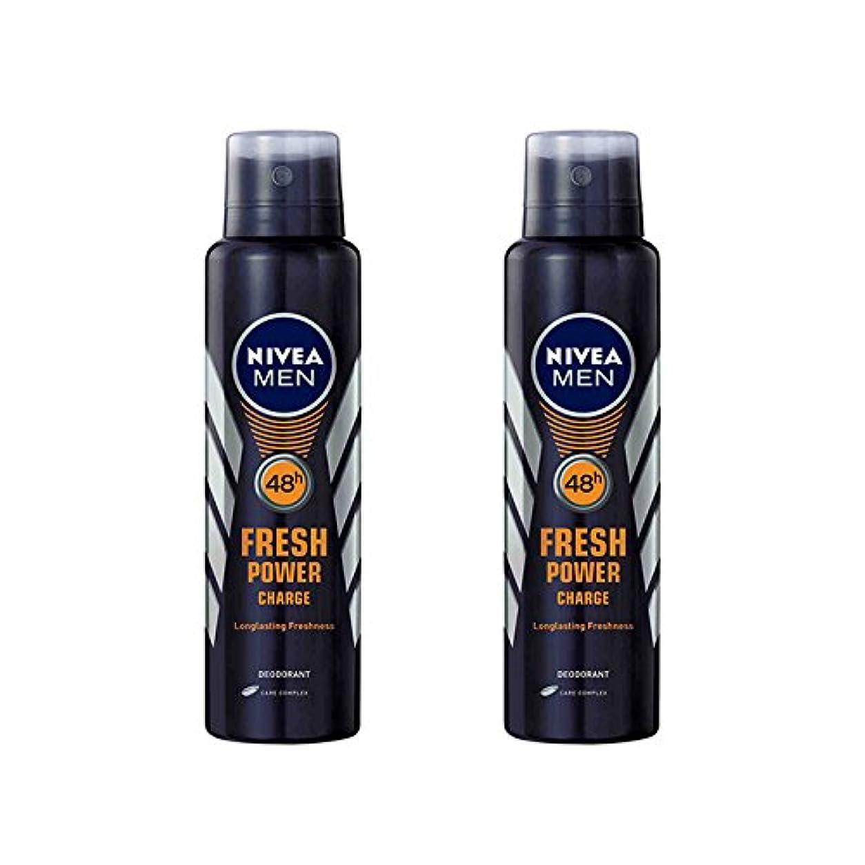 メンバー採用インストラクター2 Lots X Nivea Male Deodorant Fresh Power Charge, 150ml - 並行輸入品 - 2ロットXニベア男性デオドラントフレッシュパワーチャージ、150ml