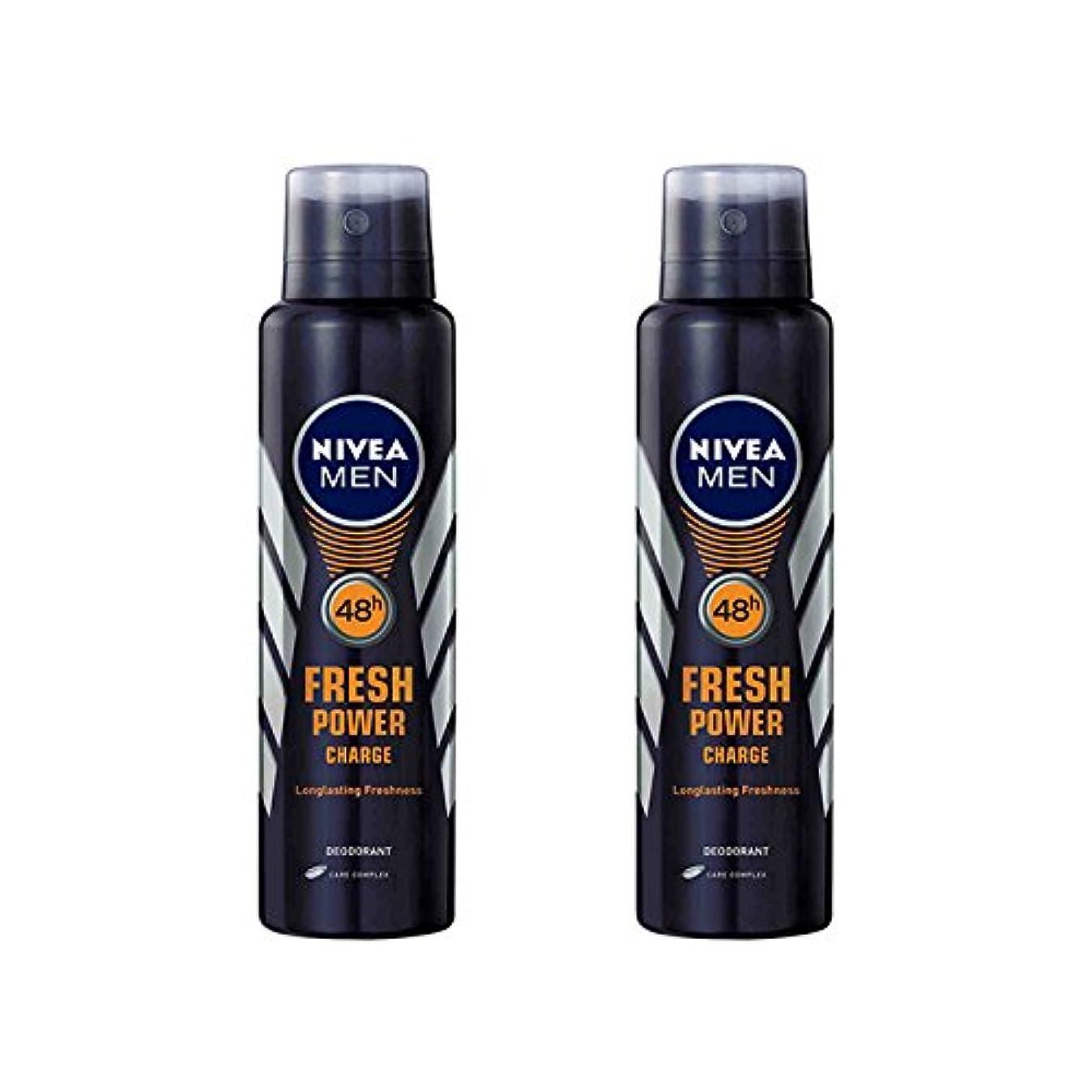 名前物理的に葉っぱ2 Lots X Nivea Male Deodorant Fresh Power Charge, 150ml - 並行輸入品 - 2ロットXニベア男性デオドラントフレッシュパワーチャージ、150ml