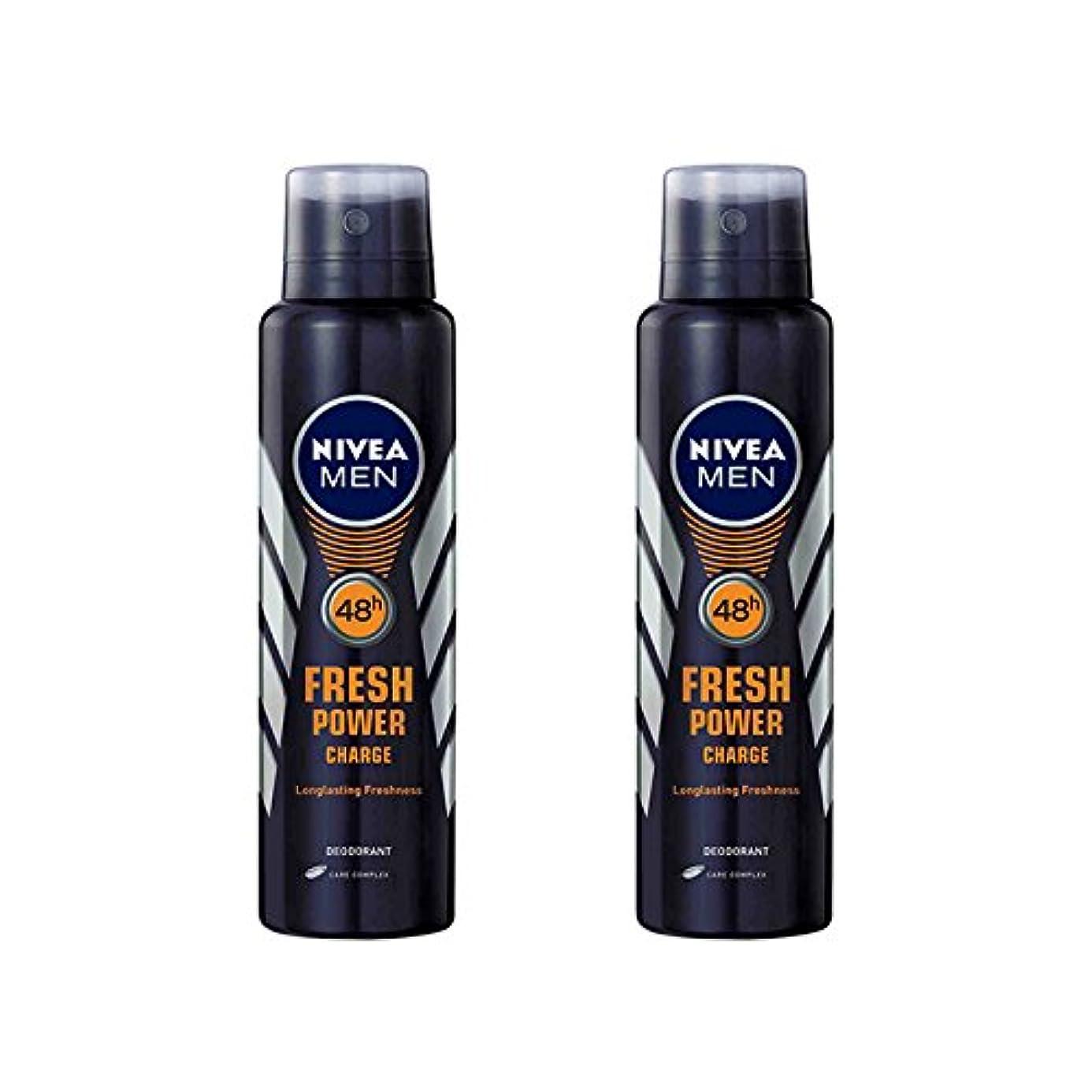 アピールサスペンド現金2 Lots X Nivea Male Deodorant Fresh Power Charge, 150ml - 並行輸入品 - 2ロットXニベア男性デオドラントフレッシュパワーチャージ、150ml