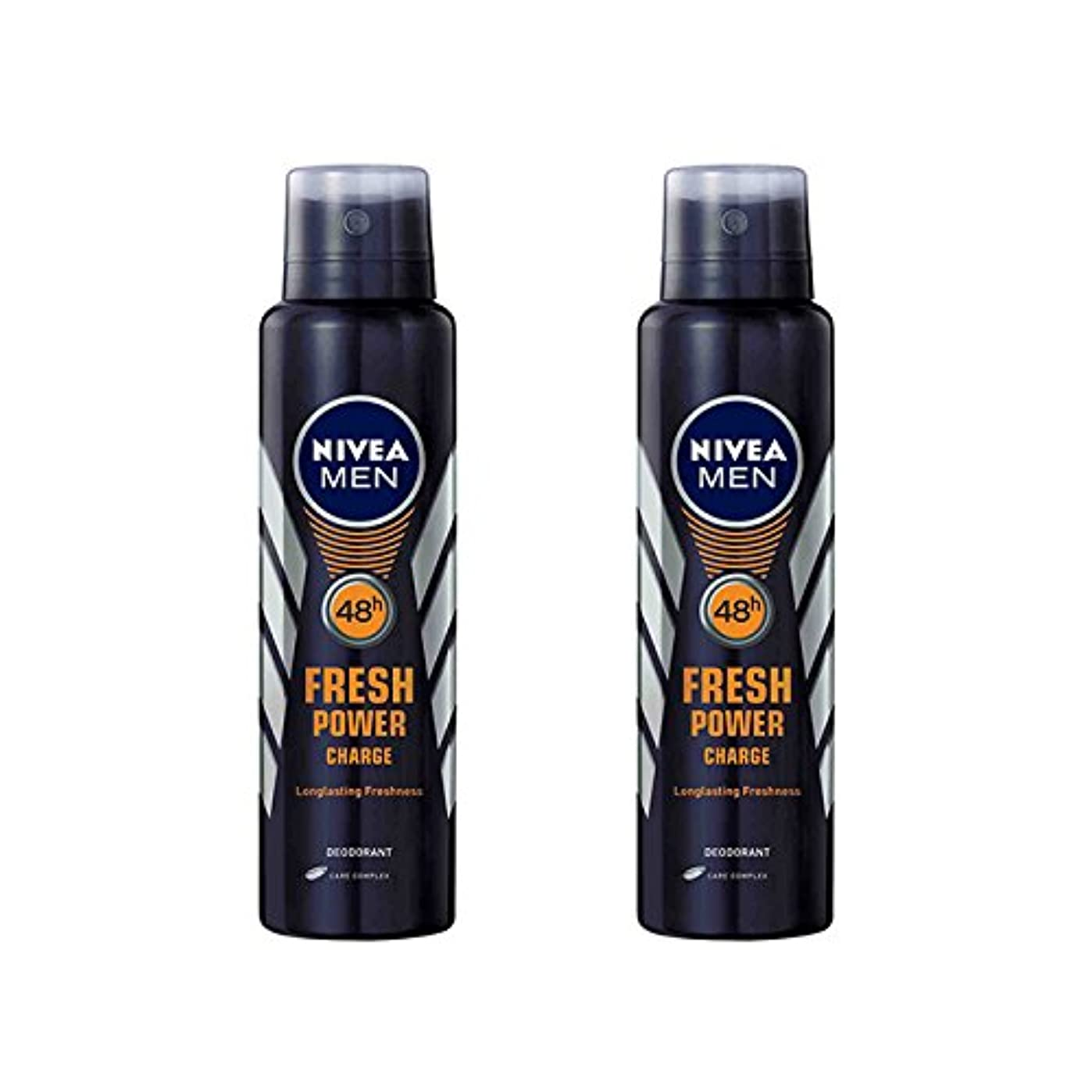 伝統先入観トレース2 Lots X Nivea Male Deodorant Fresh Power Charge, 150ml - 並行輸入品 - 2ロットXニベア男性デオドラントフレッシュパワーチャージ、150ml