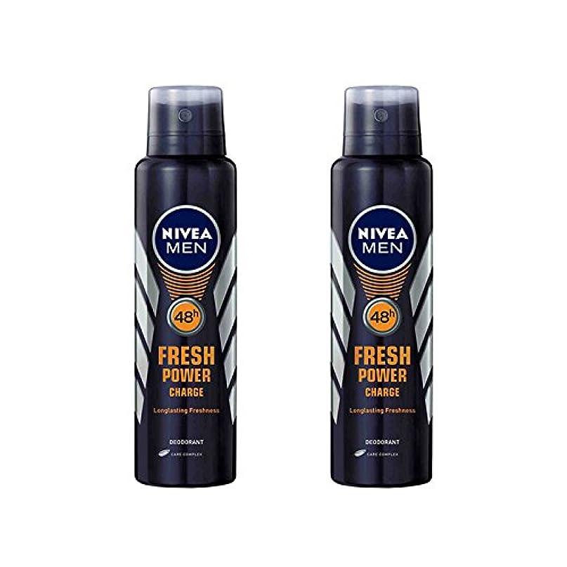 サイズ嵐未使用2 Lots X Nivea Male Deodorant Fresh Power Charge, 150ml - 並行輸入品 - 2ロットXニベア男性デオドラントフレッシュパワーチャージ、150ml