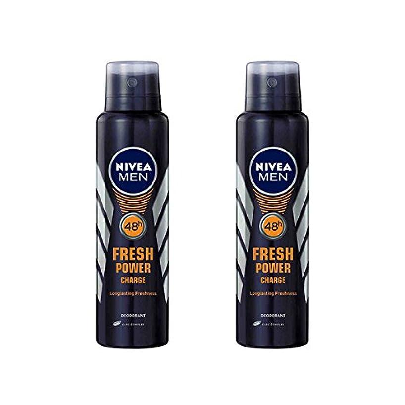 ディスカウントリゾートチョップ2 Lots X Nivea Male Deodorant Fresh Power Charge, 150ml - 並行輸入品 - 2ロットXニベア男性デオドラントフレッシュパワーチャージ、150ml