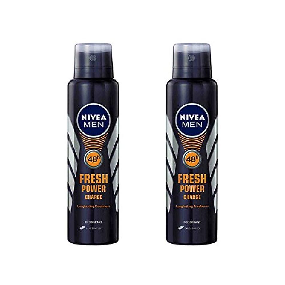 苦行変形する成果2 Lots X Nivea Male Deodorant Fresh Power Charge, 150ml - 並行輸入品 - 2ロットXニベア男性デオドラントフレッシュパワーチャージ、150ml