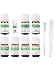 【2019年改訂版】ease AEAJアロマテラピー検定香りテスト対象精油セット 揃えておきたい基本の精油 1級 8本セット各2ml