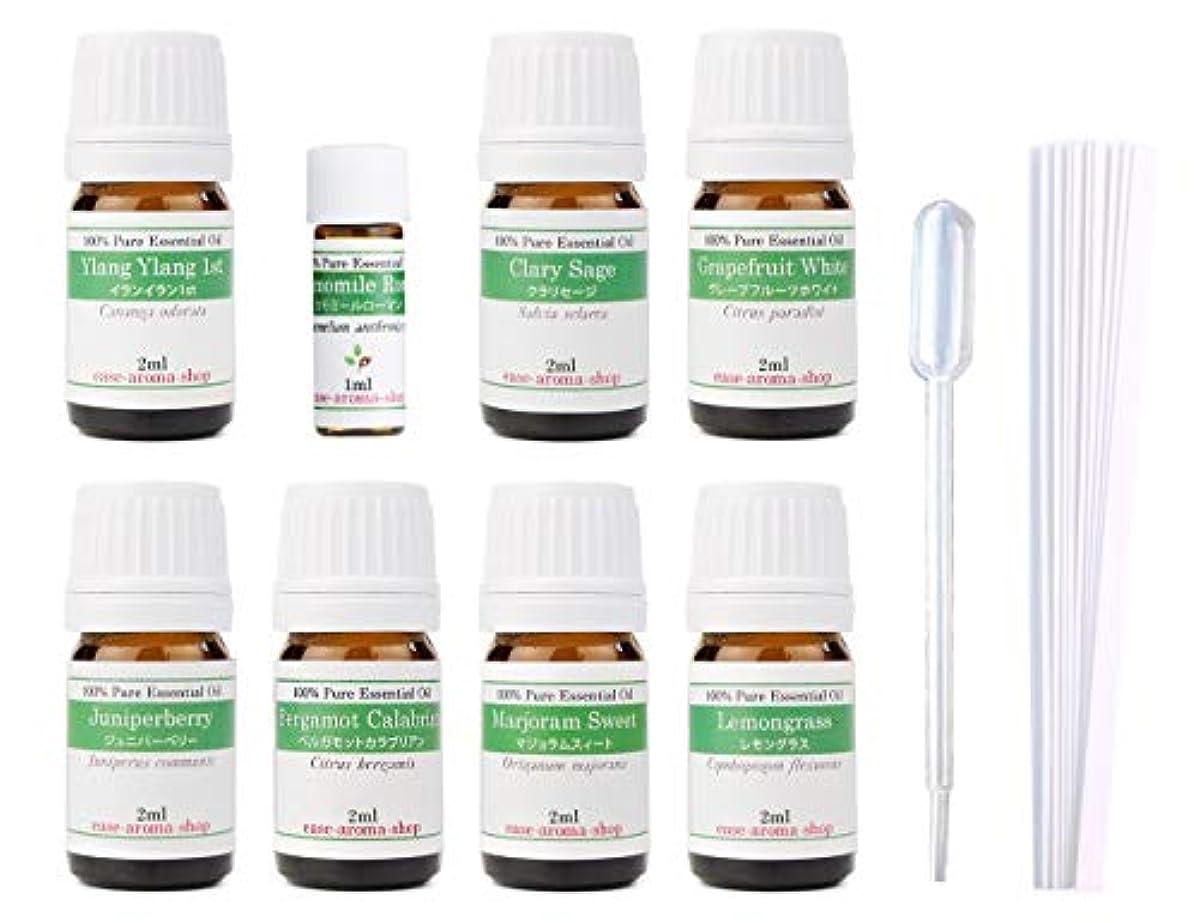 床暴力適応する【2019年改訂版】ease AEAJアロマテラピー検定香りテスト対象精油セット 揃えておきたい基本の精油 1級 8本セット各2ml
