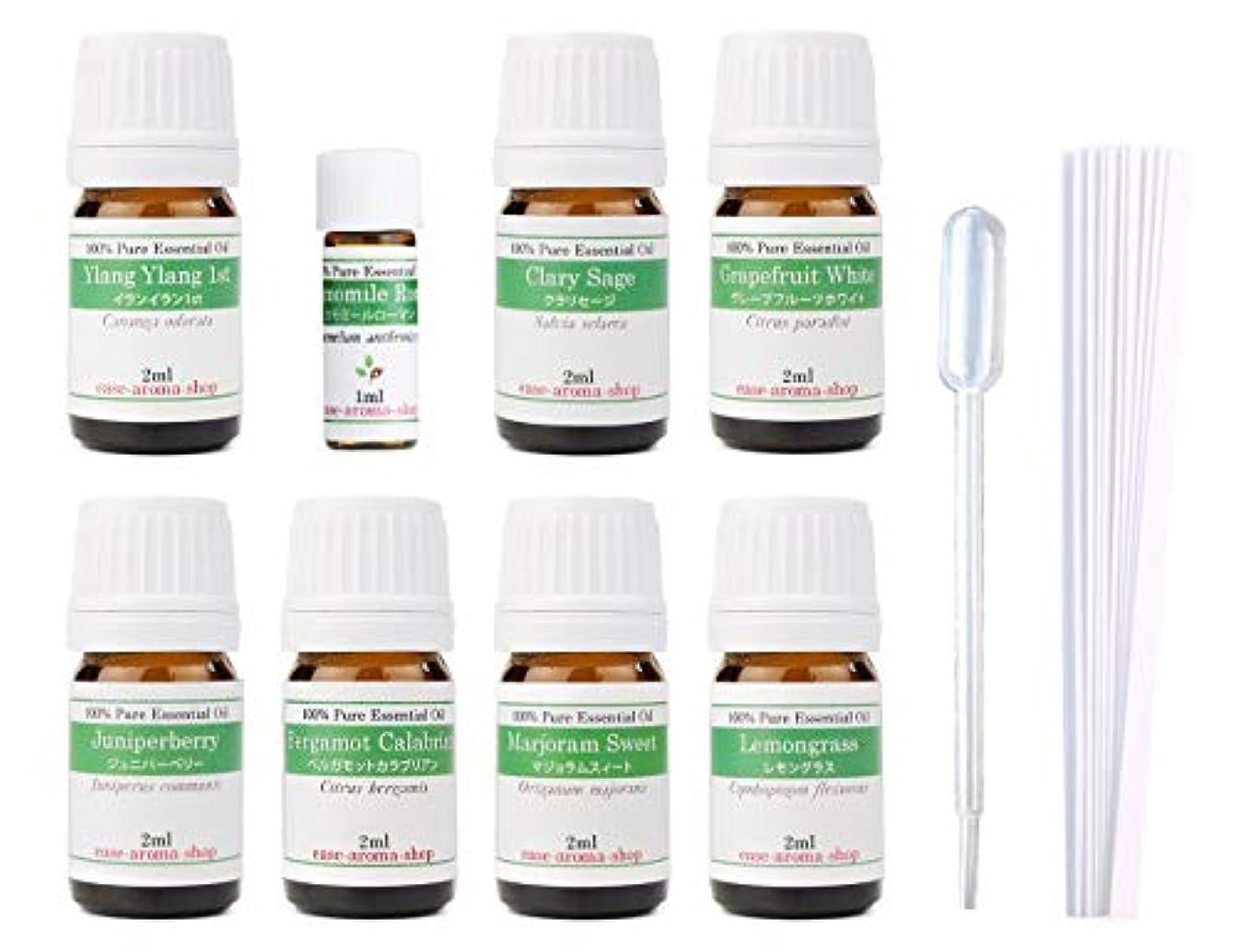 疲れた端名誉ある【2019年改訂版】ease AEAJアロマテラピー検定香りテスト対象精油セット 揃えておきたい基本の精油 1級 8本セット各2ml