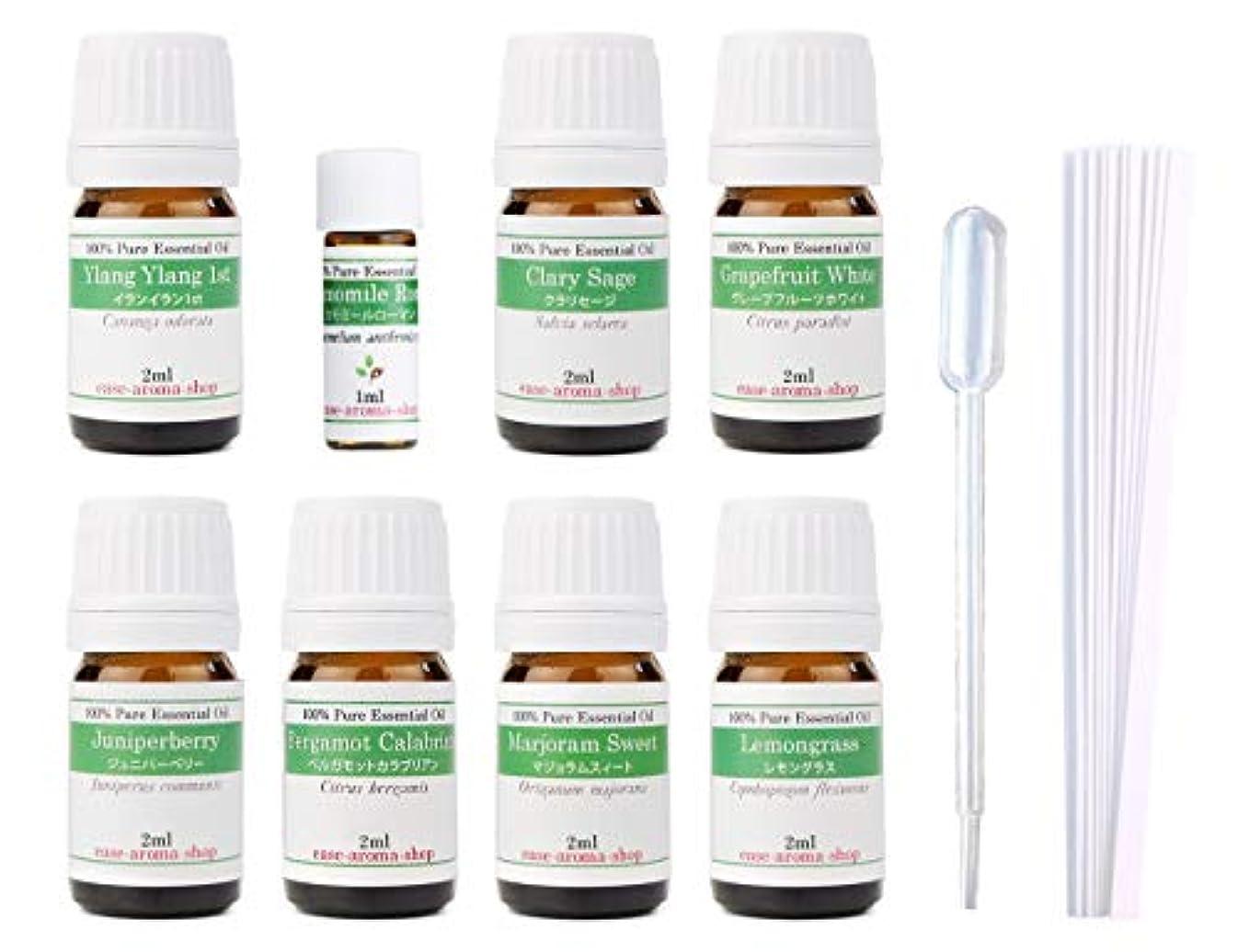 カーフ名誉ある瞑想的【2019年改訂版】ease AEAJアロマテラピー検定香りテスト対象精油セット 揃えておきたい基本の精油 1級 8本セット各2ml