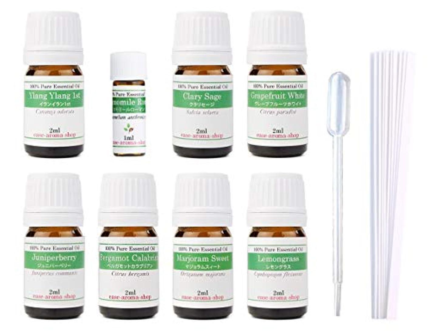 蜂一般的な輝度【2019年改訂版】ease AEAJアロマテラピー検定香りテスト対象精油セット 揃えておきたい基本の精油 1級 8本セット各2ml