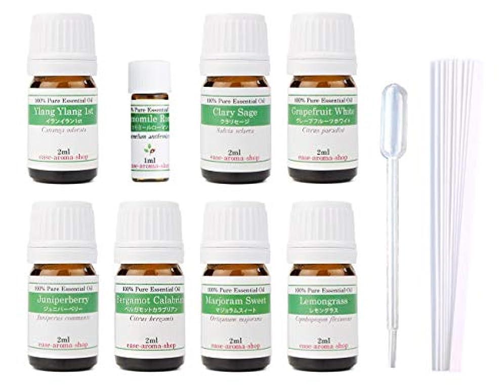 たくさんの無数の連続した【2019年改訂版】ease AEAJアロマテラピー検定香りテスト対象精油セット 揃えておきたい基本の精油 1級 8本セット各2ml