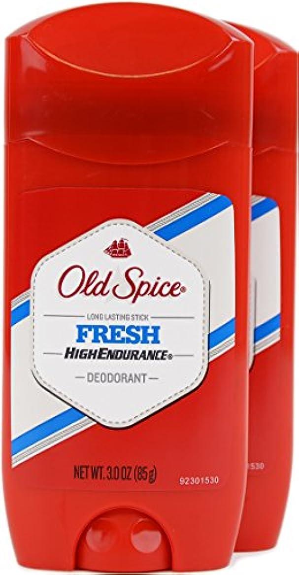 狂人粉砕する原油オールドスパイス(Old Spice) 固形デオドラント スティック フレッシュ 85g×2個[並行輸入品]