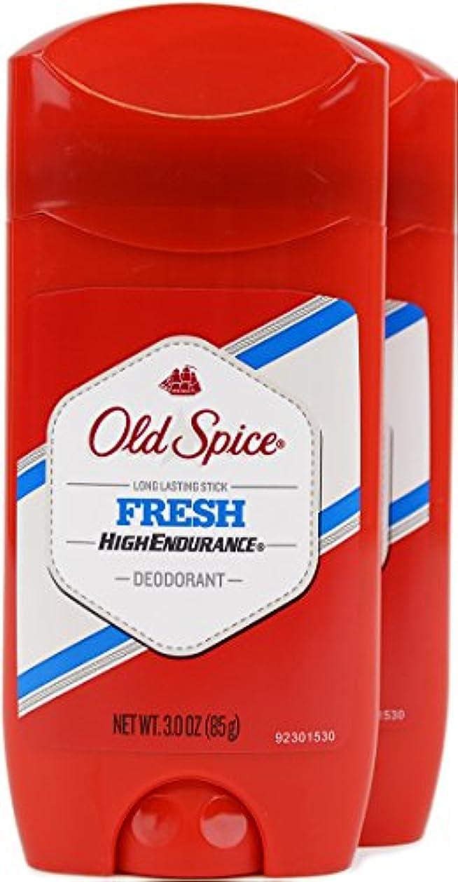 最初に受動的出血オールドスパイス(Old Spice) 固形デオドラント スティック フレッシュ 85g×2個[並行輸入品]