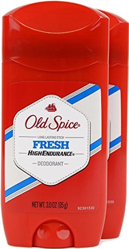 コンパクト会話建設オールドスパイス(Old Spice) 固形デオドラント スティック フレッシュ 85g×2個[並行輸入品]