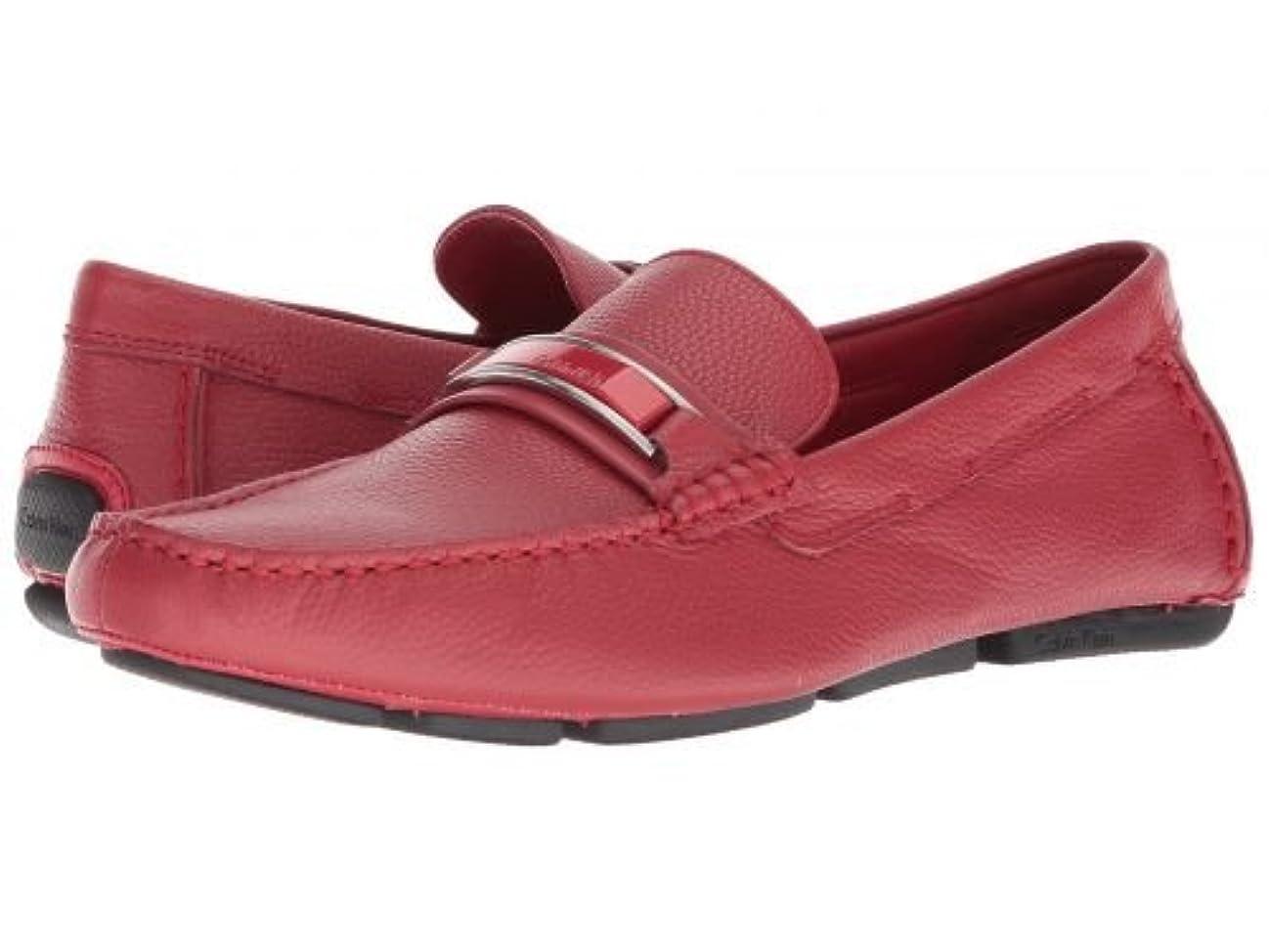 忠誠民兵障害者Calvin Klein(カルバンクライン) メンズ 男性用 シューズ 靴 ローファー Madsen - Brick Red Embossed Tumbled [並行輸入品]