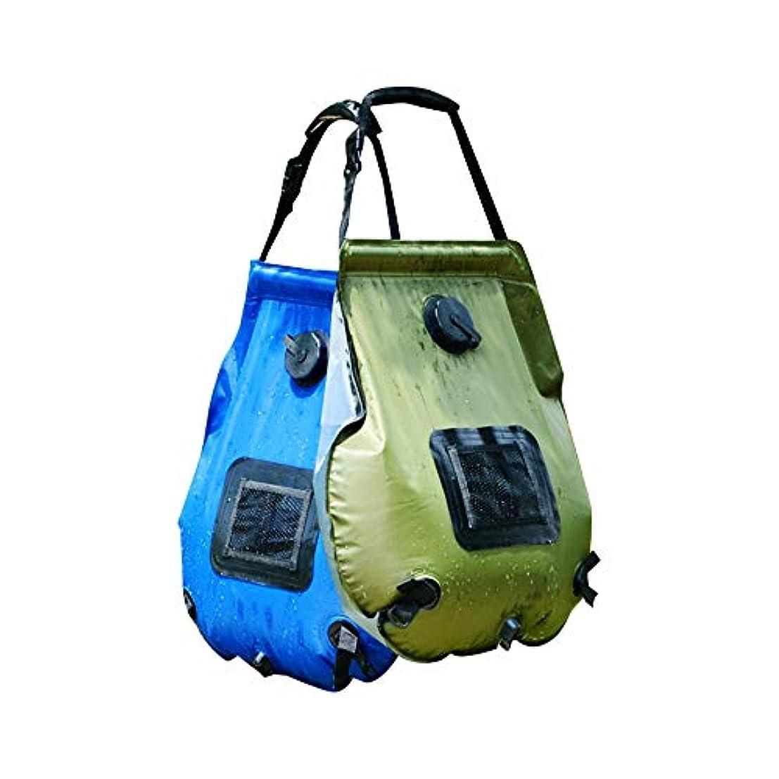 敵対的作りバスルームKINDOYO ソーラーキャンプシャワーバッグ - 5ガロン/ 20lポータブルアウトドアソーラーシャワーバッグ旅行ハイキング