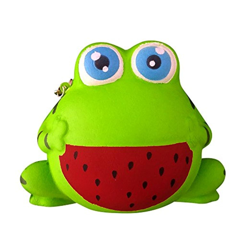 chanyuhui Slow Rising squishisジャンボKawaii Cute Green Frog香りつきSquishy応力Reliever FunシミュレーションKid Toyペンダントギフト 11.5*10*8.5cm グリーン 05