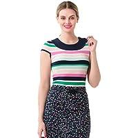 Review Women's Bayside Stripe Knit Top Navy/Multi