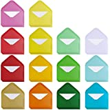 """Supla 140 Sets Colorful Mini Envelopes with White Blank Business Cards Note Cards 14 Colors Small Gift Card Tiny Envelopes Pocket Envelopes Bulk 4"""" x 2.7"""" Love Notes"""