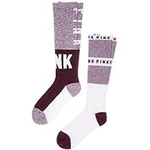 Victoria's Secret Pink Socks Set of 2 (Neon Hot Pink Black Marl)