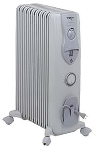TESY(テシー) オイルラジエターヒーター 電子式24時間ON/OFFタイマー 9枚フィン(シームレス溶接) 【4~10畳用】LB1509E03TR