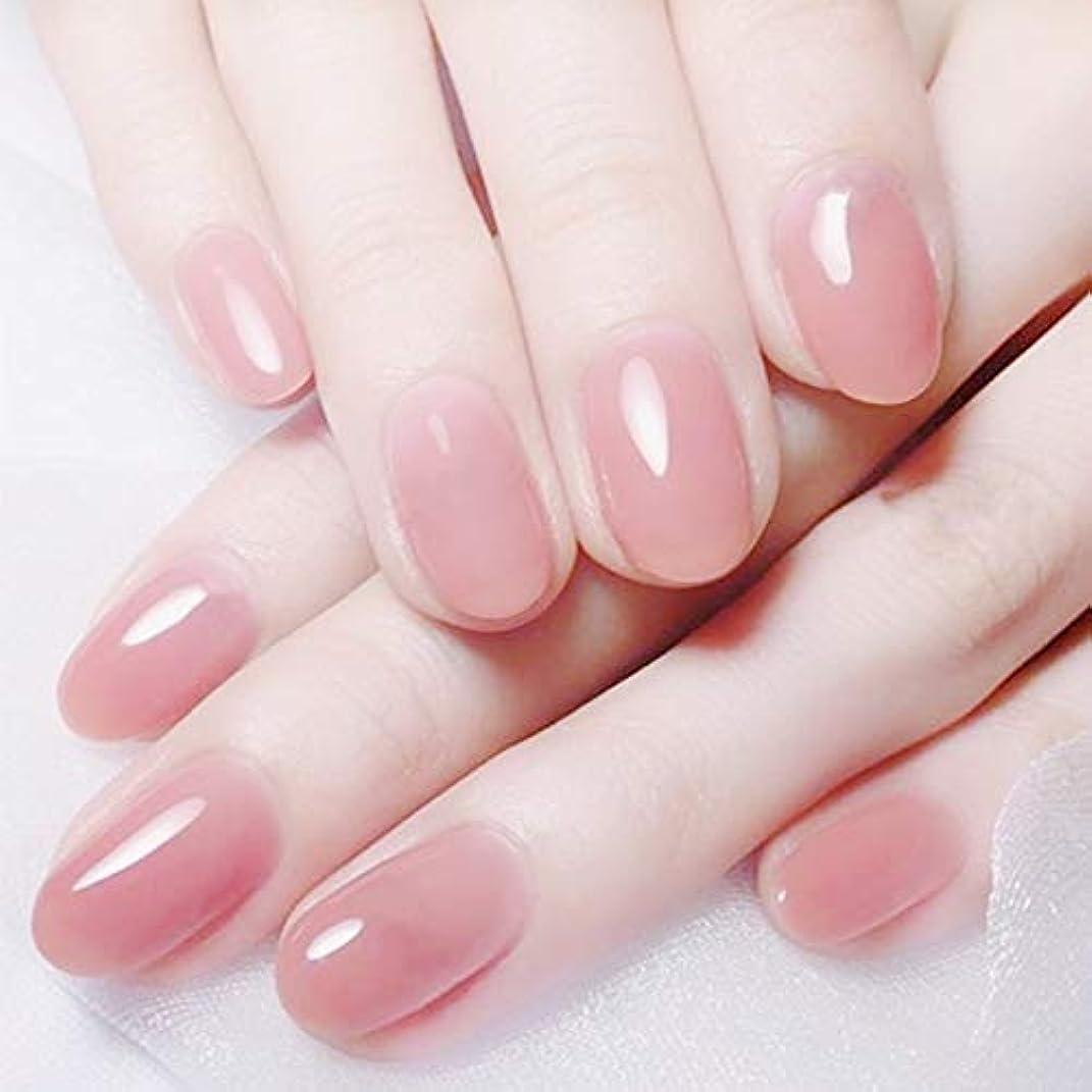 パシフィック乳有害レディ 人気のスタイル ネイルチップ かわいい ピンク 手作りネイルチップ 無地 24枚入 入学式 入園式